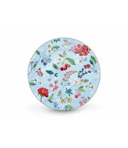 Pip Studio Floral onderbord Hummingbirds 32 cm Blauw