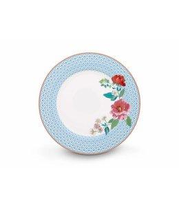 Pip Studio Floral dinerbord Rose 26 cm Blauw