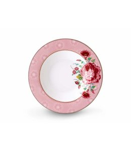 Pip Studio Floral soepbord Rose 21 cm Roze
