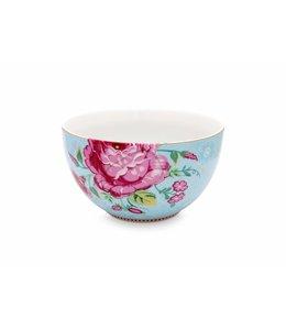 Pip Studio Floral kom Rose 18 cm Blauw