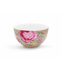 Pip Studio Floral kom Rose 18 cm khaki