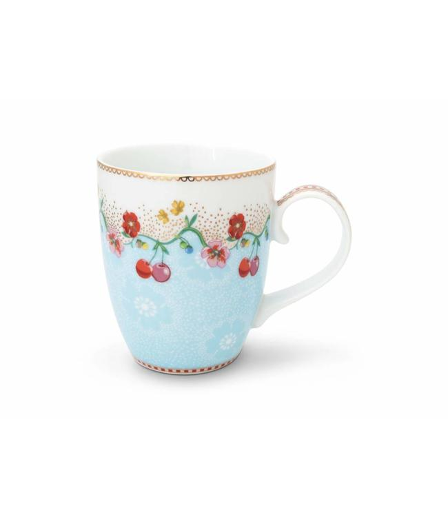 Floral mok groot Cherry Blauw