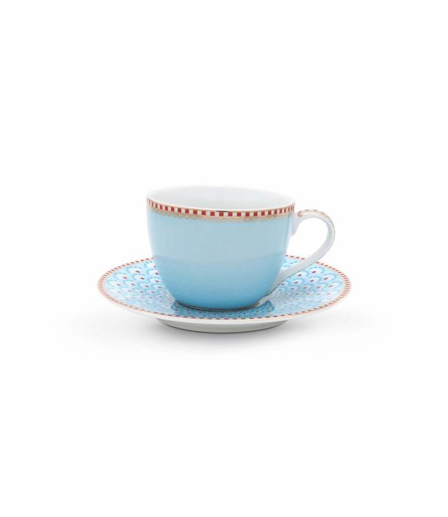Espresso kop en schotel Bloomingtales Blauw