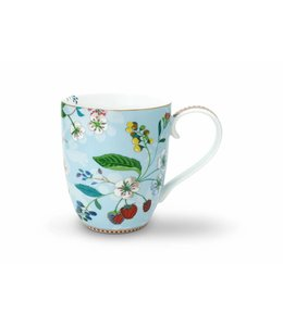 Floral mok XL Hummingbirds Blauw