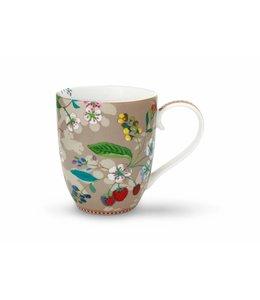 Floral mok XL Hummingbirds Khaki