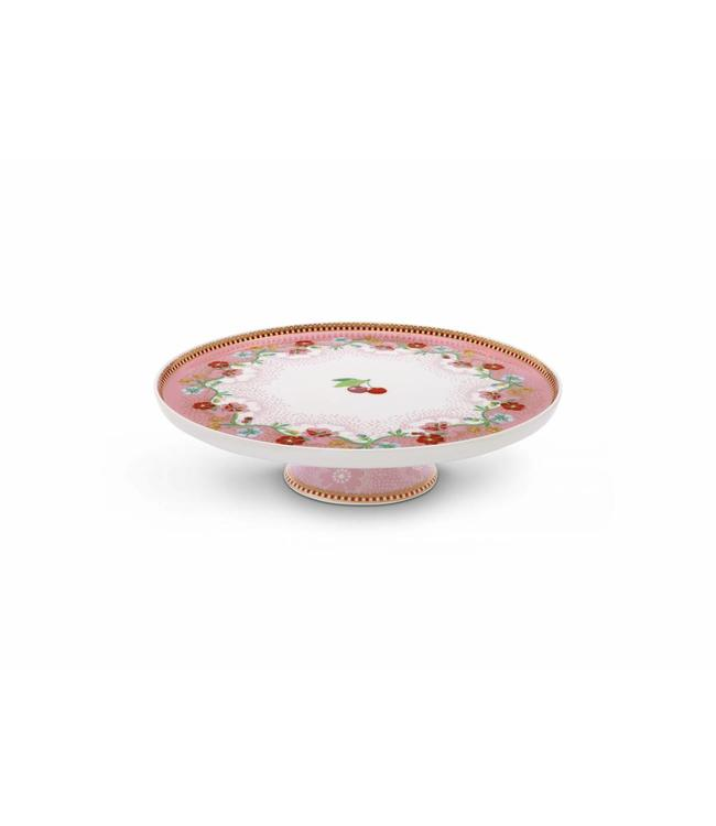Floral mini taartplateau Cherry Pink Roze