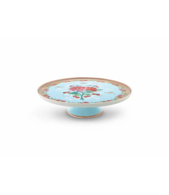 Floral taartplateau Rose Blauw
