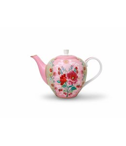 Floral theepot Rose groot Roze