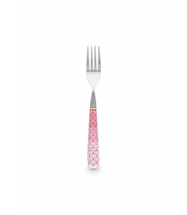 Floral vork Roze