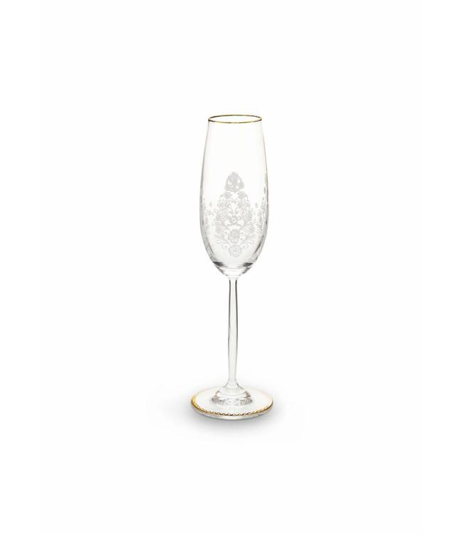 Floral champagneglas