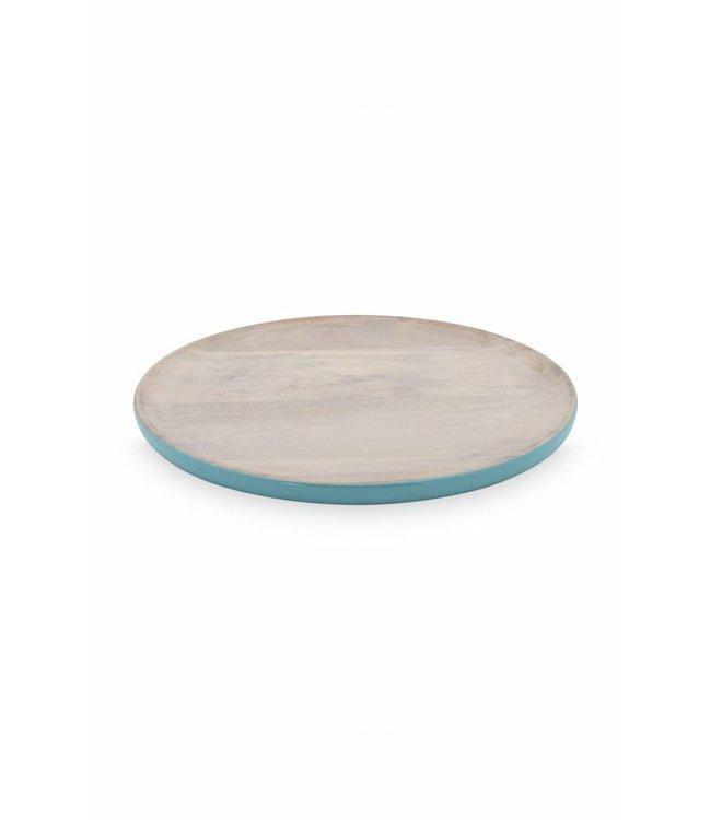 Blushing Birds houten bord blauw 25 cm