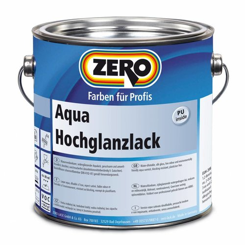 Zero-farbe Aqua Hochglanzlack (Hoogglans Waterbasis)