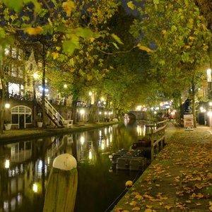 Noordwand  Holland Fotobehang Utrecht By Night 1174