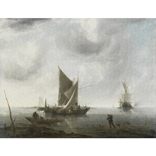 Dutch Painted Memories Mural Anghored Ships 8002