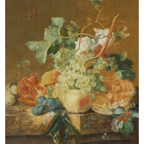 Dutch Painted Memories Mural Still Life with Fruits 8008