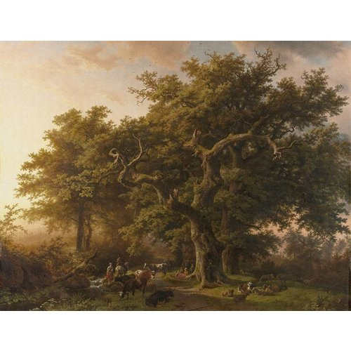 Dutch Painted Memories Mural Forest 8010