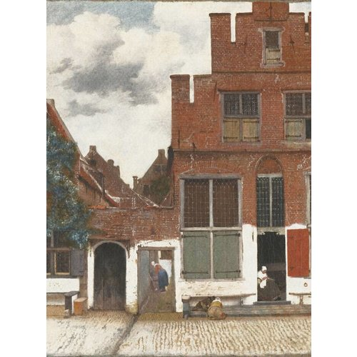 Dutch Painted Memories Mural View of Houses in Delft 8012