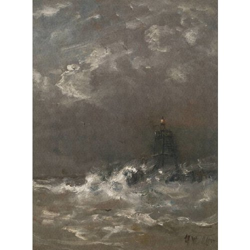 Dutch Painted Memories Mural Lighthouse 8017