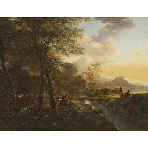 Dutch Painted Memories Mural Italian Landscape 8022