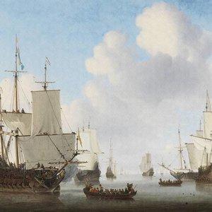 Dutch Painted Memories Mural Dutch Ships 8024