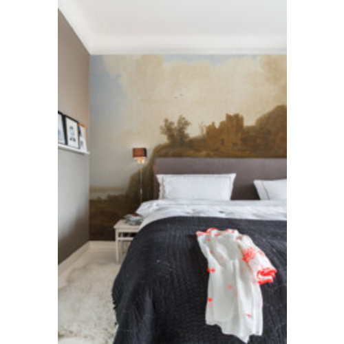 Dutch Painted Memories Mural Castle Ruins 8025