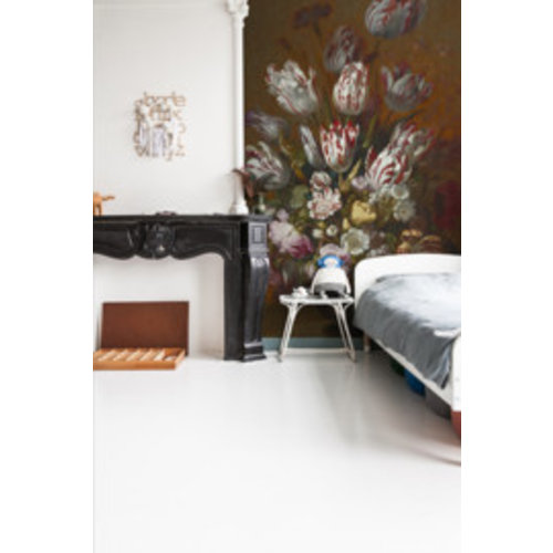 Dutch Painted Memories Mural Still Life with Flowers 8026
