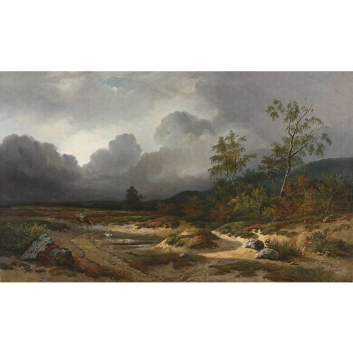 Dutch Painted Memories Mural Approaching Thunderstorm 8032