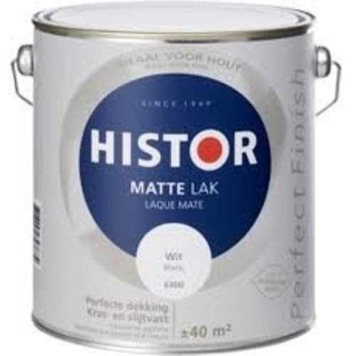 Histor Histor matte lak wit 2,5 liter