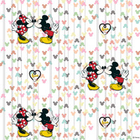 Dutch Disney Mickey Mouse & Minnie Kiss behang