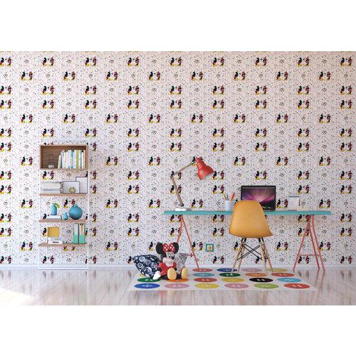 Dutch Dutch Disney Mickey Mouse & Minnie Kiss behang WPD 9733