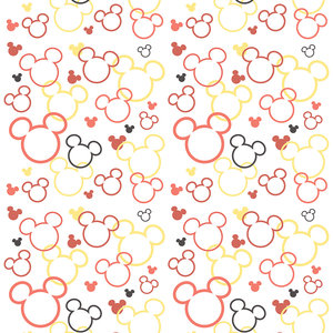 Dutch Dutch Disney Mickey Mouse & Minnie silhouette behang