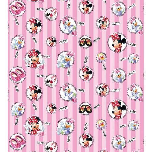 Dutch  Dutch Disney Minnie Mouse & Daisy with name tags behang  WPD 9746