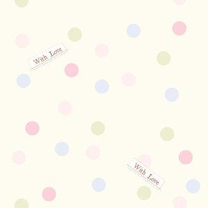 Dutch Dutch Disney Winnie the Pooh pastel polka dots behang