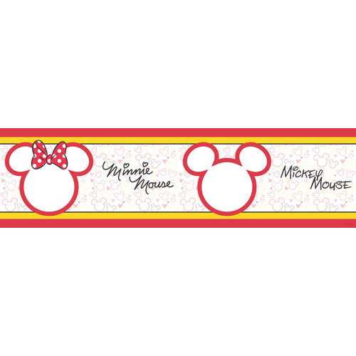 Dutch Dutch Disney Mickey & Minnie Mouse behangrand WBD 8068