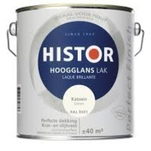 Histor Alkyd Hoogglans Katoen (Ral 9001) 2,5 l