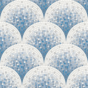 Dutch Dutch Beaux Arts II Tile Effect Blue Behang BA220046