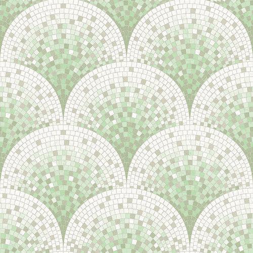 Dutch Dutch Beaux Arts II Tile Effect Green Behang BA220045