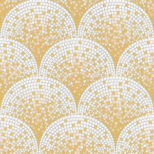 Dutch Dutch Beaux Arts II Tile Effect Gold Behang BA220042
