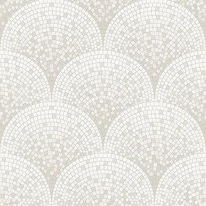 Dutch Dutch Beaux Arts II Tile Effect Silver Behang BA220041