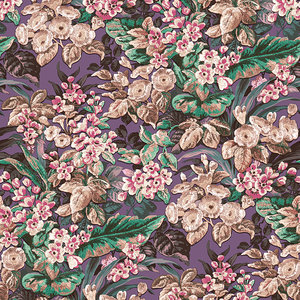 Dutch Dutch Wallcovering Beaux Arts II Floral Purple Behang BA220024
