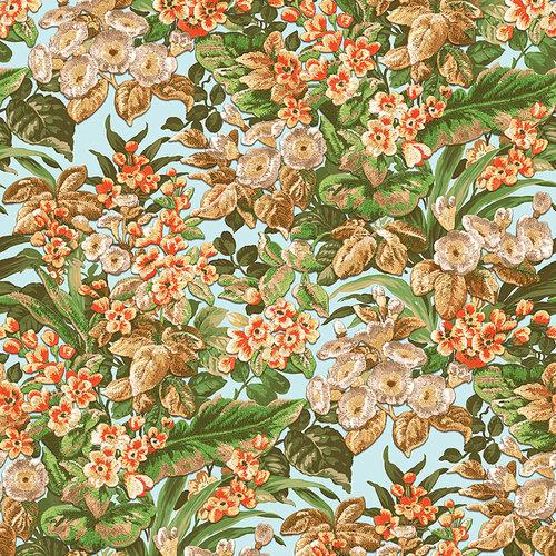 Dutch Dutch Beaux Arts II Floral Blue Behang BA220022