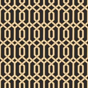 Dutch Dutch Beaux Arts II Black Geometric Behang BA220016