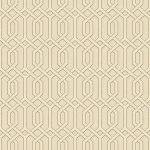 Dutch Dutch Beaux Arts II Cream Geometric Behang BA220014