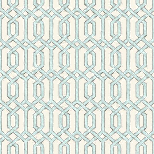 Dutch Dutch Beaux Arts II Blue Geometric Behang BA220013