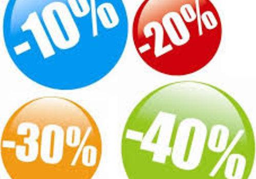Aktie producten met extra staffelkorting tot 50%