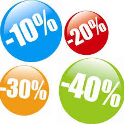 Aktie producten met extra online staffelkorting   tot 50%