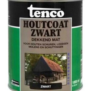 Tenco houtcoat zwart waterbasis mat 2.5l