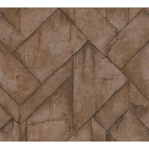 A.S. Creation Steenblokken bruin 37741-1