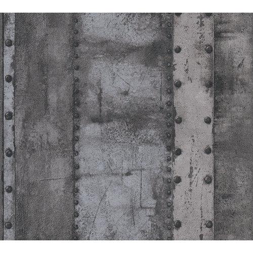 A.S. Creation  Industrial Metaallook-Dark 37743-4