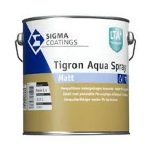Sigma Sigma Tigron Aqua Spray Matt Wit - 2,5 Liter RAL 9010